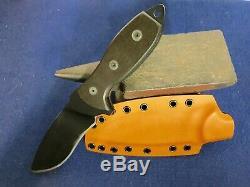 Grayman Knives Suenami with Don't Tread on Me engraving & Custom Kydex Sheath