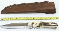 H. J. Schneider Maker Hunting Knife with Sheath #124 5 Blade Free Shipping
