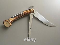 HERMÈS -RARE GRAND COUTEAU PLIANT DE CHASSE TIRE BOUCHON Hunting Folding Knife