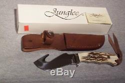 Junglee Tak Fukuta Stag Handle Large Guthook Knife Made In Seki Japan Never Used