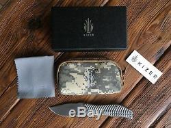 Kizer Darrel Ralph Gunhammer Bowie Frame Lock Knife (3.5 Stonewash) Ki4501A1