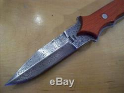 LIMITED EDITION BUCK KNIFE 970 DAMASCUS DAGGER 2001 Used with Original Box