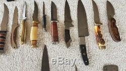 Large collection of knives