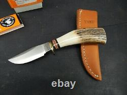 MARBLES Gladstone 2000 Factory Custom Stag Carver TRAILCRAFT Hunting KNIFE
