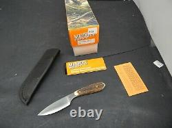MARBLES Gladstone Stag Antler CAPER Hunting Knife Mint in Box