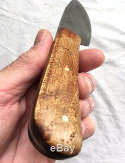 ML Knives Drop Point Hunter Woodsman Knife with Leather Sheath