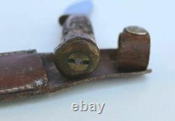 Marbles Early Woodcraft Hunting Knife 1916 Stag Horn Handle Stag Pommel