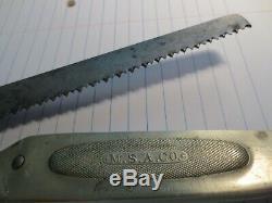 Marbles safety saw MSA 1906 hunting knife antique vintage