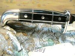 New Old Western L66 Knife & New Sheath Custom Buck 119 Style Silver/blk S Reed
