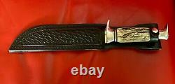 Old Edge Brand Solingen Germany 469 Hunting Knife & Sheath