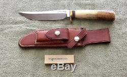 Older Randall Made Knife Stag JRB Model 3 6 Hunter Knife NR