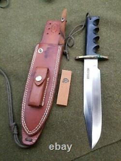 Older Randall Made Knives 14 7 Attack Stainless Blade with Sheath & stone