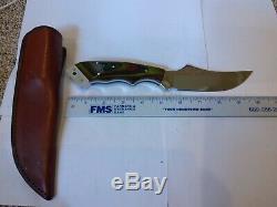 Original Barminski Knife Loveland CO USA Fixed Blade withSheath not used 10 inch