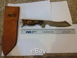 Original Barminski Knife Loveland CO USA Fixed Blade withSheath not used 12 inch