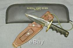 Original Vintage Randall Model 15 Airman Knife With Sheath and Stone in Case