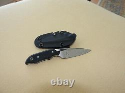 PML Knives Witches Finger, CPM-S30V Tapered-Tang, Blk G10, Kydex, Custom Knife