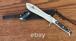 Pre 1964 Puma 6377 White Hunter Knife Stag Handles Sheath Pristine Condition