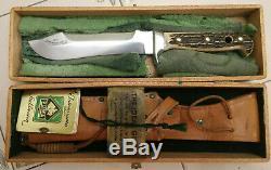 Puma 6377 Pre 64 White Hunter Knife Stag Handle