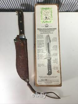 Puma 6377 White Hunter 1956 RARE For The White antique Knife with BOX Hunting #121