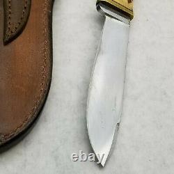 Puma knives Hunters Friend 6398 Knife 1970 with Treestump Sheath preowned solid