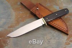 Queen Cutlery Queen City Feathered Buffalo Horn Bowie Fixed Blade Knife