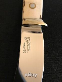 R. W. Loveless Knife Maker Custom Stag Nesmuk Signal Nude Lady-sheath