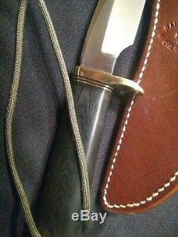 RANDALL MADE KNIFE Model 3 Knife with Black Micarta Handle + Scabbard