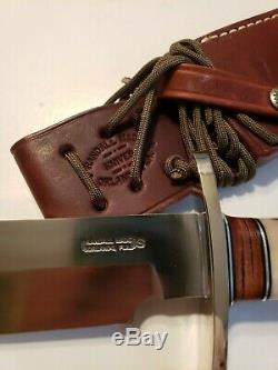 RANDALL MADE KNIVES Model 12 9 SPORTSMAN BOWIE Knife #14 Grind #25 Stag Handle