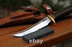 RANDALL ORLANDO FL. COMBAT fighting knife sheath stone 44 signed leather FLORIDA