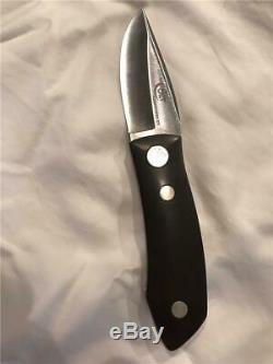 RARE VINTAGE FIRST EDITION COLT BARRY WOOD FOLDING HUNTING KNIFE WithBOX