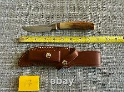 RARE Vintage Randall Made Model 8-4 Trout and Bird Knife, Pinned Stag Handle
