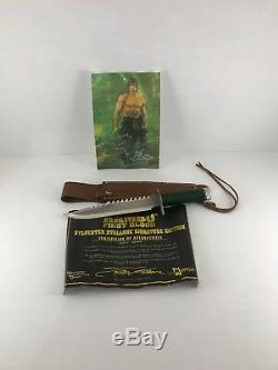 Rambo 1 Officially Licensed First Blood Fixed Blade Bowie Hunting Knife + Sheath