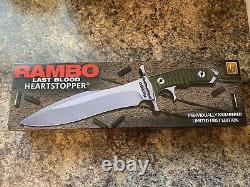 Rambo Last Blood Heartstopper Knife With Sheath Officially Licensed
