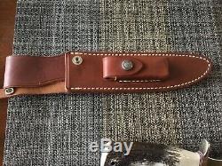 Randall Knife #17 stag finger grooves lanyard stainless nickel silver randall s
