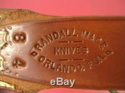 Randall Knife 8-4 Trout and Bird withOriginal Scabbard 1980's Vintage XLNT