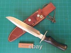 Randall Made Hunter Knife S 8 Orlando FL Micarta 12L dbl Brass Hilt Sheath