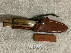 Randall Made Knife #5-4, Sambar Stag, Brass Butt Cap 1990's Vintage