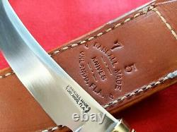 Randall Made Knives Model 4 Leather Stack Randall 7-5 Sheath & Zipper Pouch