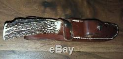 Randall Made Knives Model #7-5 with #6 Grind STAG Leather Sheath Hunting Knife