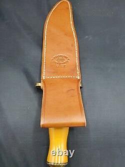 Randall Model #12 8 Large Custom Big Bear Bowie AGM Knife & Leather Scabbard