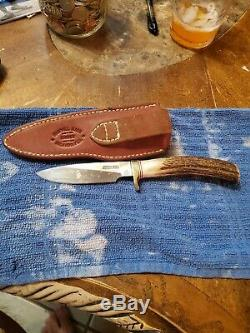 Randall Model 26 Pathfinder Hunting Knife Stag Handle Drop Point Blade