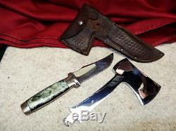 Rare 1930's Case Tested XX Knife Axe Hatchet Combo Set Hunting AX With Sheath