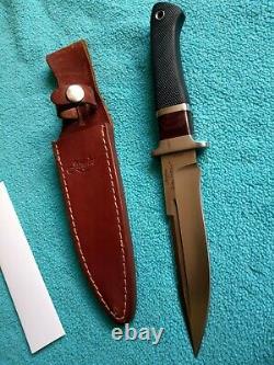 Rare Junglee Baby Hattori Fighter Knife With Original Leather Sheath