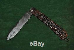Rare Orig collectible JOSEPH RODGERS SHEFFIELD Hunting Folding Large knife 11