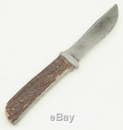 Rare Robeson ShurEdge USA Jigged Bone Handle Outers Camp Hunting Sheath Knife