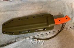 Rare Survive! Knives GSO-10 Survival Fixed Blade Knife & Sheath with Orange Scales