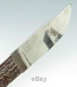 Rare VTG Camillus Cutlery USA 4 Line Jigged Bone Outers Sportsman Hunting Knife