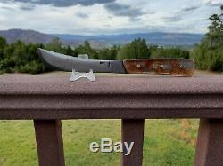 Rare Vintage W. Scagel Upswept Skinner Knife Ww2 Bomber Handle