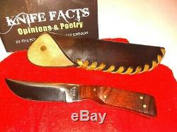 Ray Johnson, Silver Dollar City, Hunting Knife with Leather Sheath