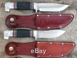Remington Umc Fixed Blade Rare Skinning Hunting Knife Set Box Sheaths Rh134 Rh50